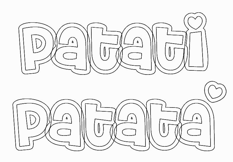 Desenhos Para Colorir Patati Patata