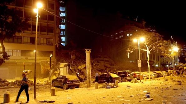 O desabamento do prédios no Rio de Janeiro