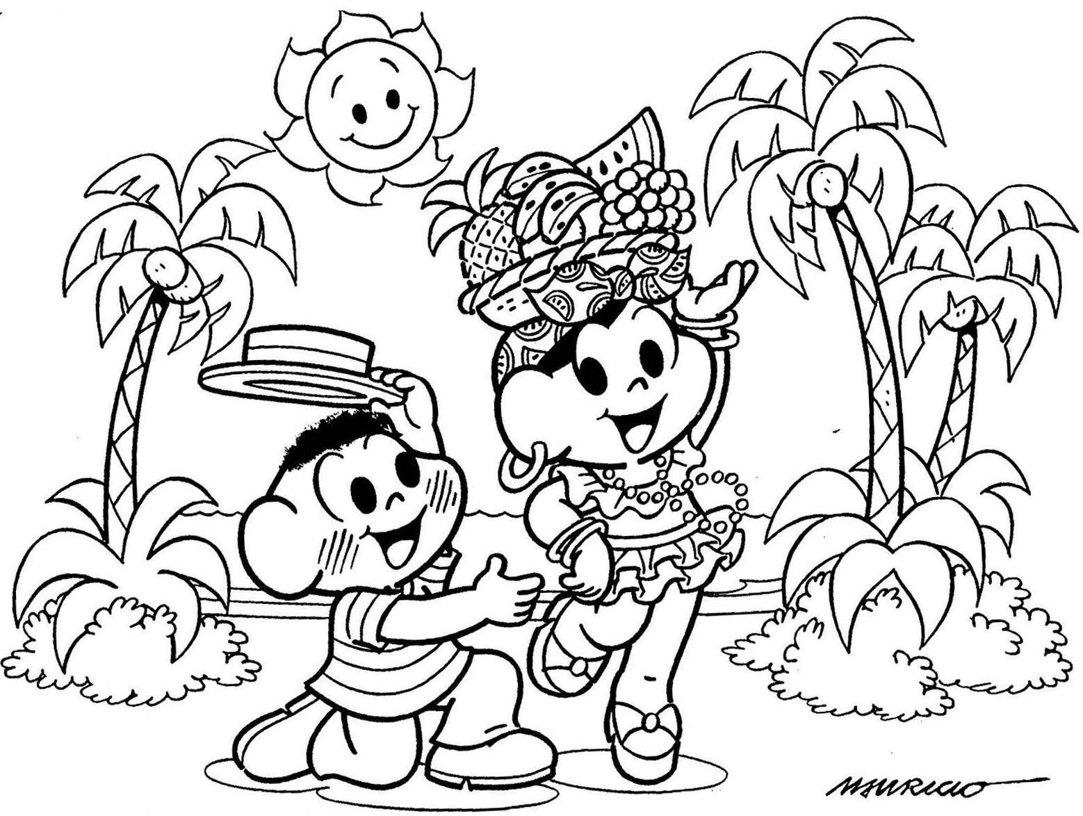 Desenhos Para Colorir Carnaval Da Turma Da Monica Rota 83