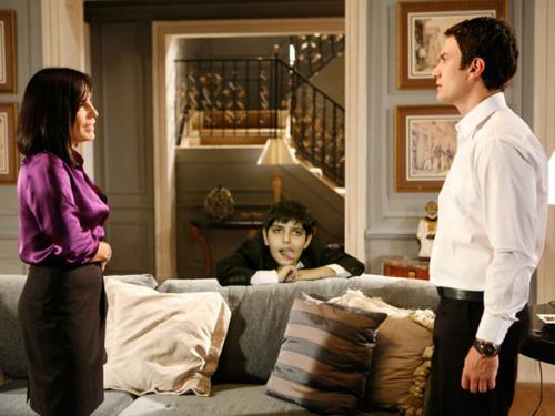 Daniel em cena com Norma e Léo, em Insensato Coração