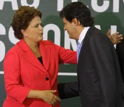 Fernando Haddad e Dilma Housseff