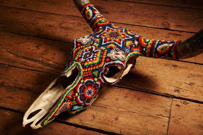 Arte com crânios Huichóis - 07