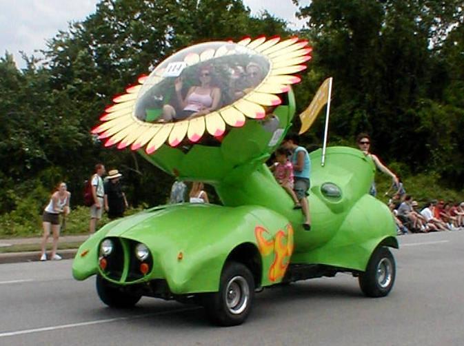 Carro girassol