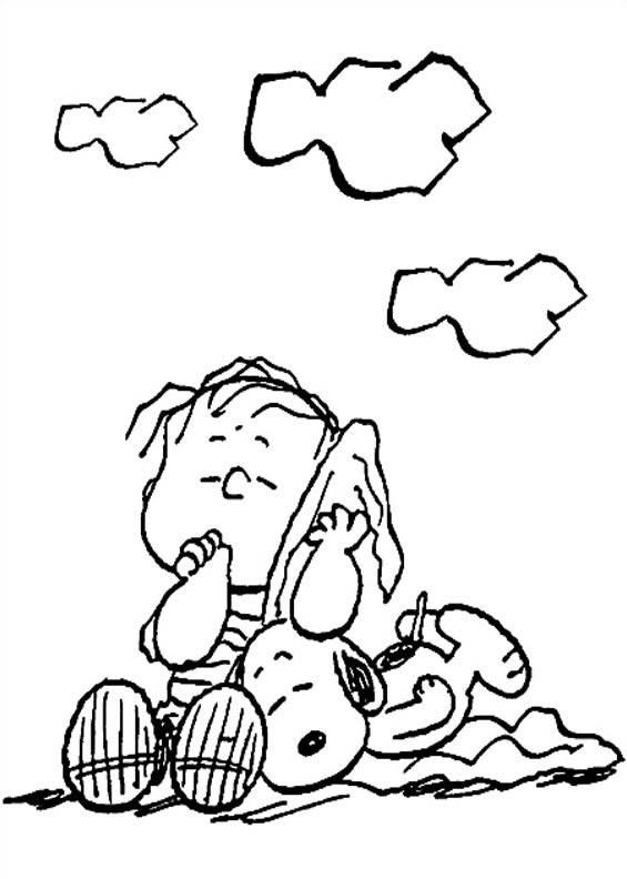 Desenhos Para Imprimir E Colorir De Snoopy