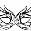 Molde de máscara de carnaval 01