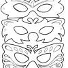 Molde de máscara de carnaval 02