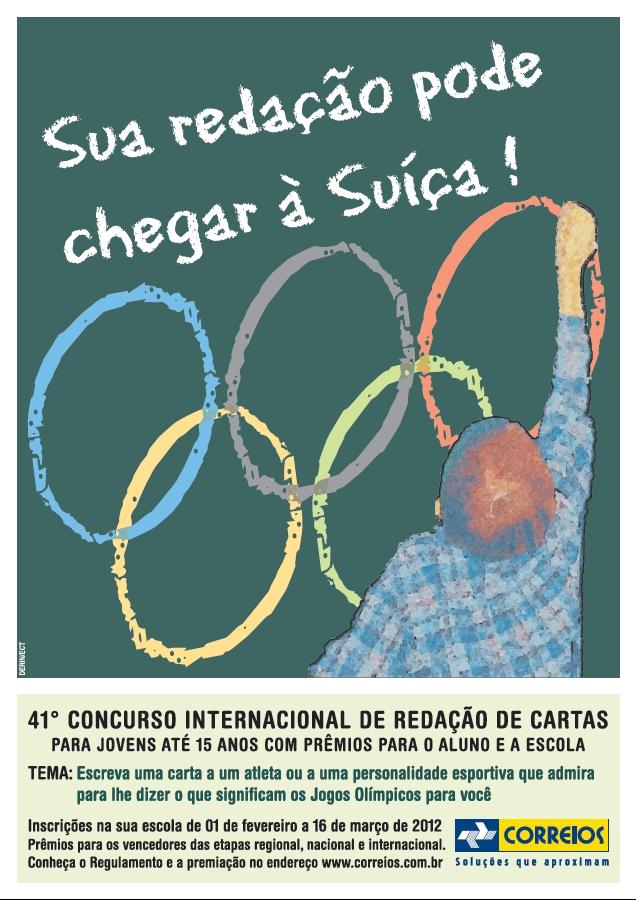 Cartaz oficial do 41º Concurso Internacional de Redação de Cartas