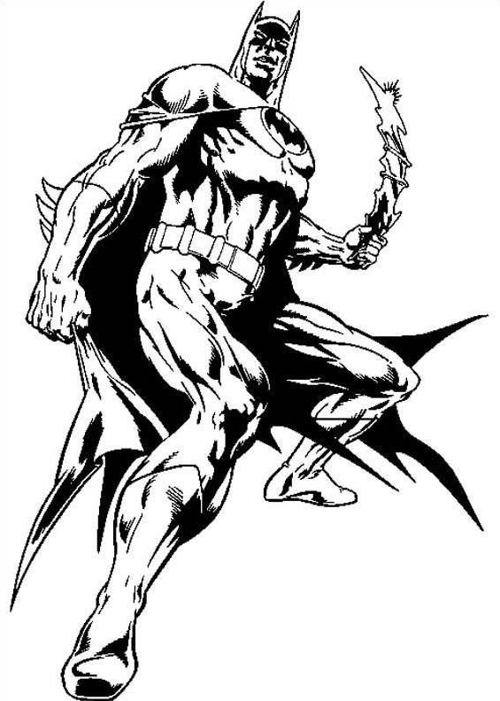 Desenhos Para Imprimir E Colorir De Batman