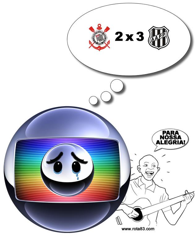 Globo chora a eliminação do Corinthians (para nossa alegria!)