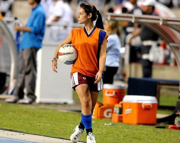 Fernanda Maia em ação no Engenhão