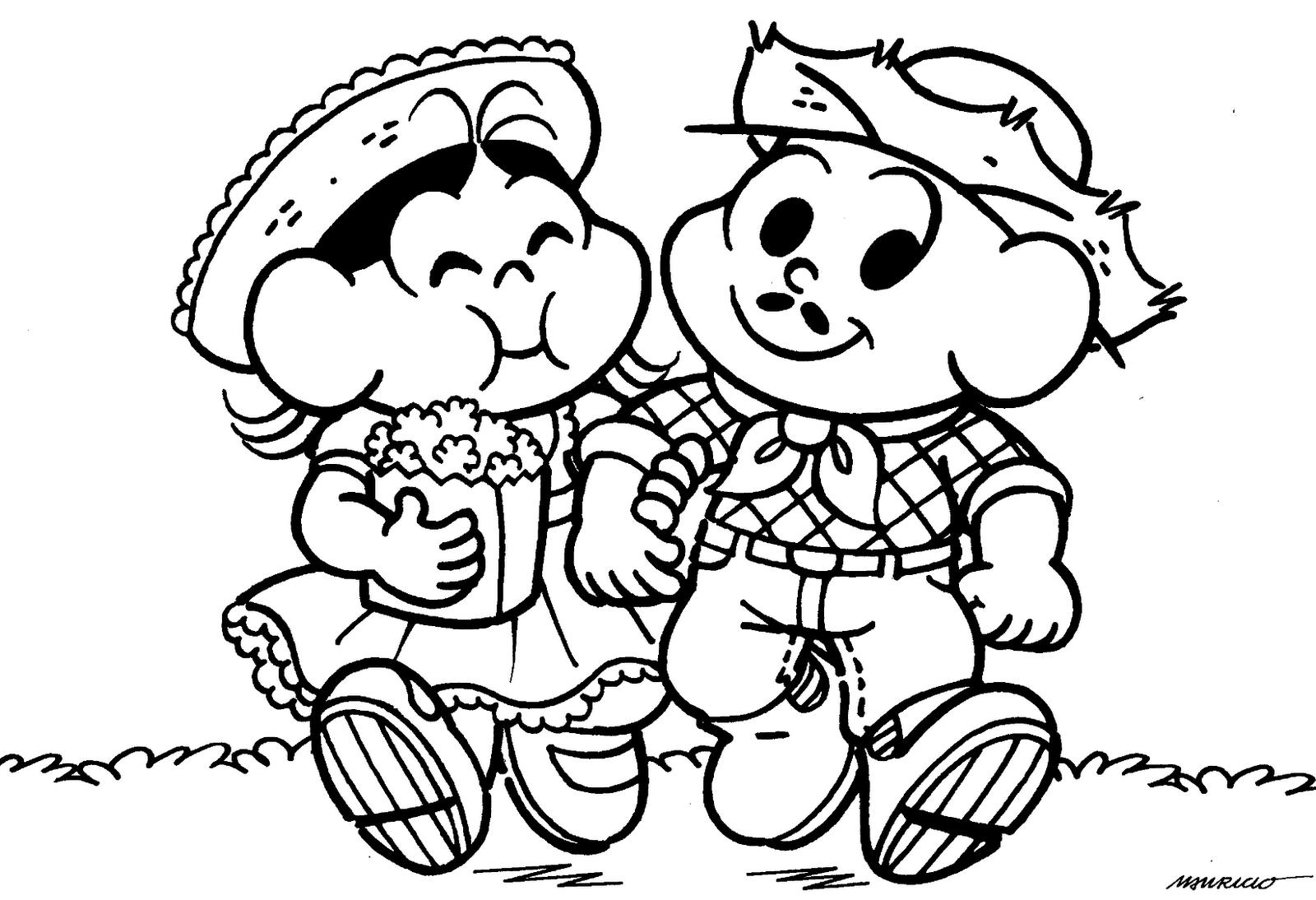 Desenhos Para Colorir Festa Junina Da Turma Da Monica