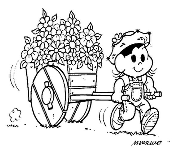 Resultado de imagem para desenhos da primavera para colorir