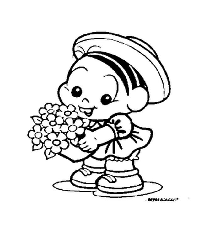 Desenhos Para Imprimir E Colorir Primavera Turma Da Monica