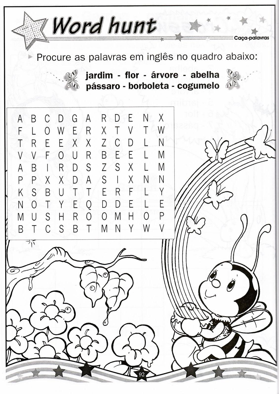 Well-known Atividades de inglês para crianças XE65