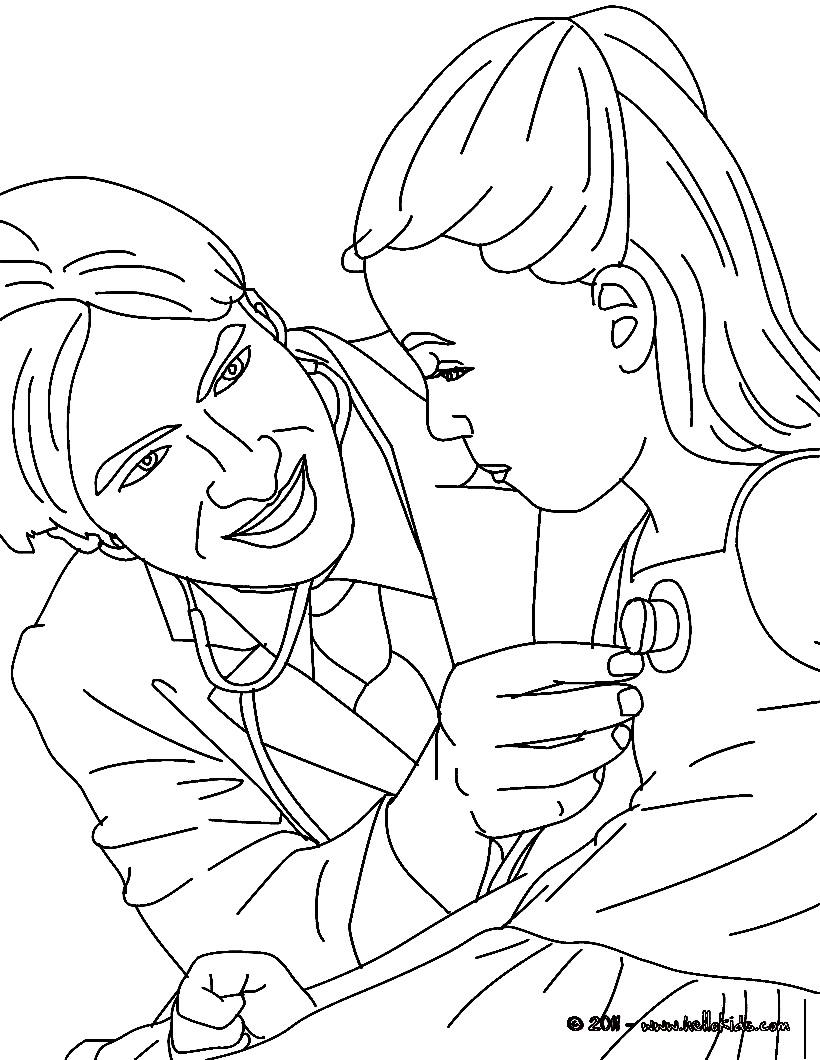 Desenhos para imprimir e colorir dia do m dico - Coloriage docteur ...