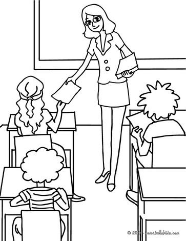 Desenhos do dia do professor para colorir - Coloriage classe ...