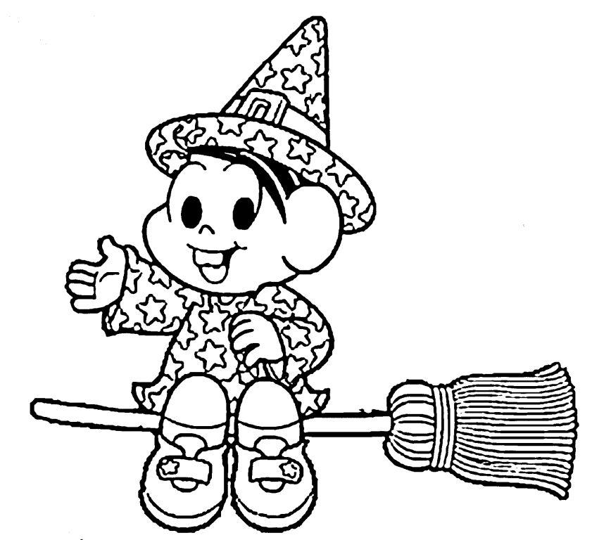 Jogo Halloween Turma Da Mônica Para Colorir