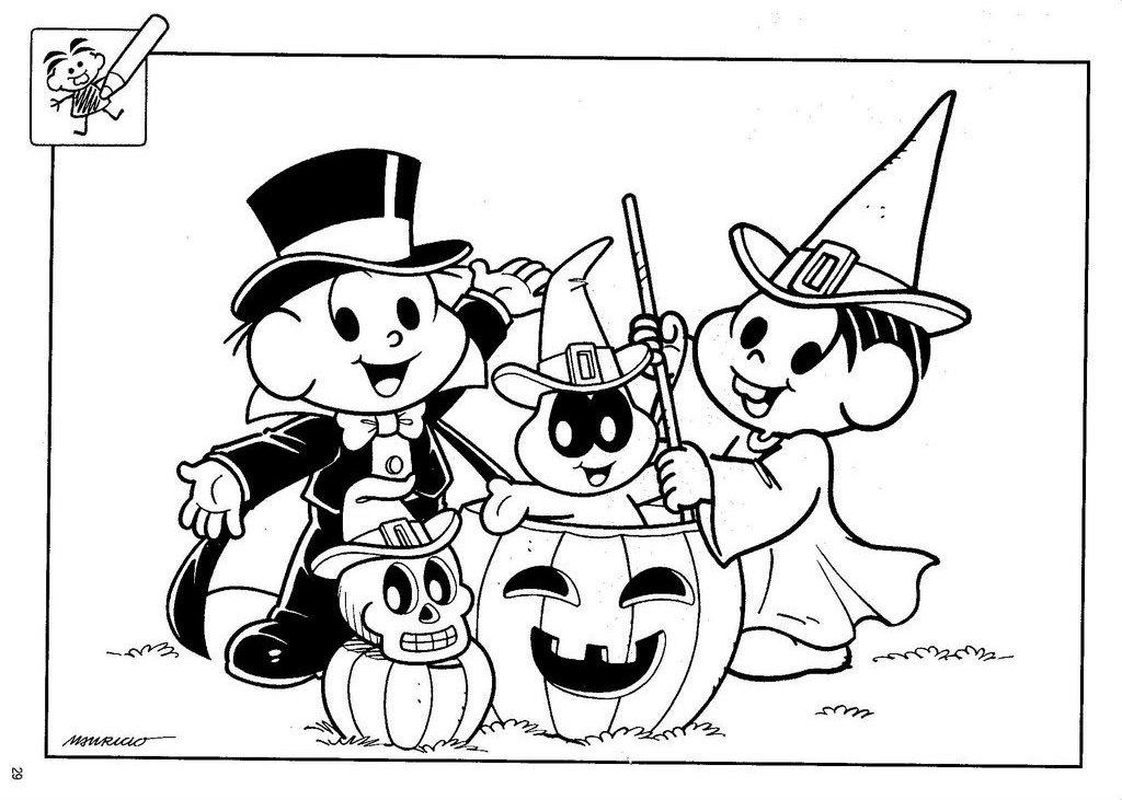 halloween turma da m nica para colorir rota 83