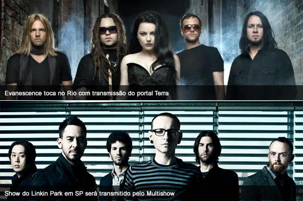 Assista aos shows de Evanescence e Linkin Park ao vivo