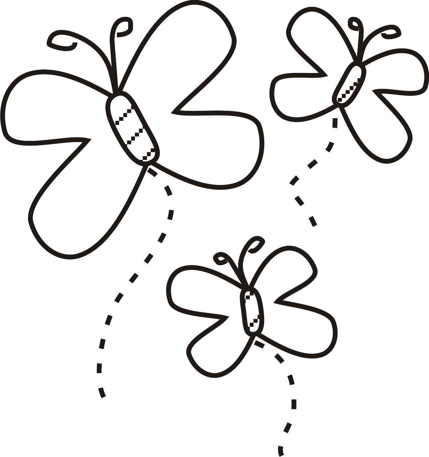 Desenhos Para Colorir De Borboletas