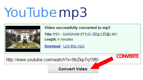 Download MP3 para computador via Youtube