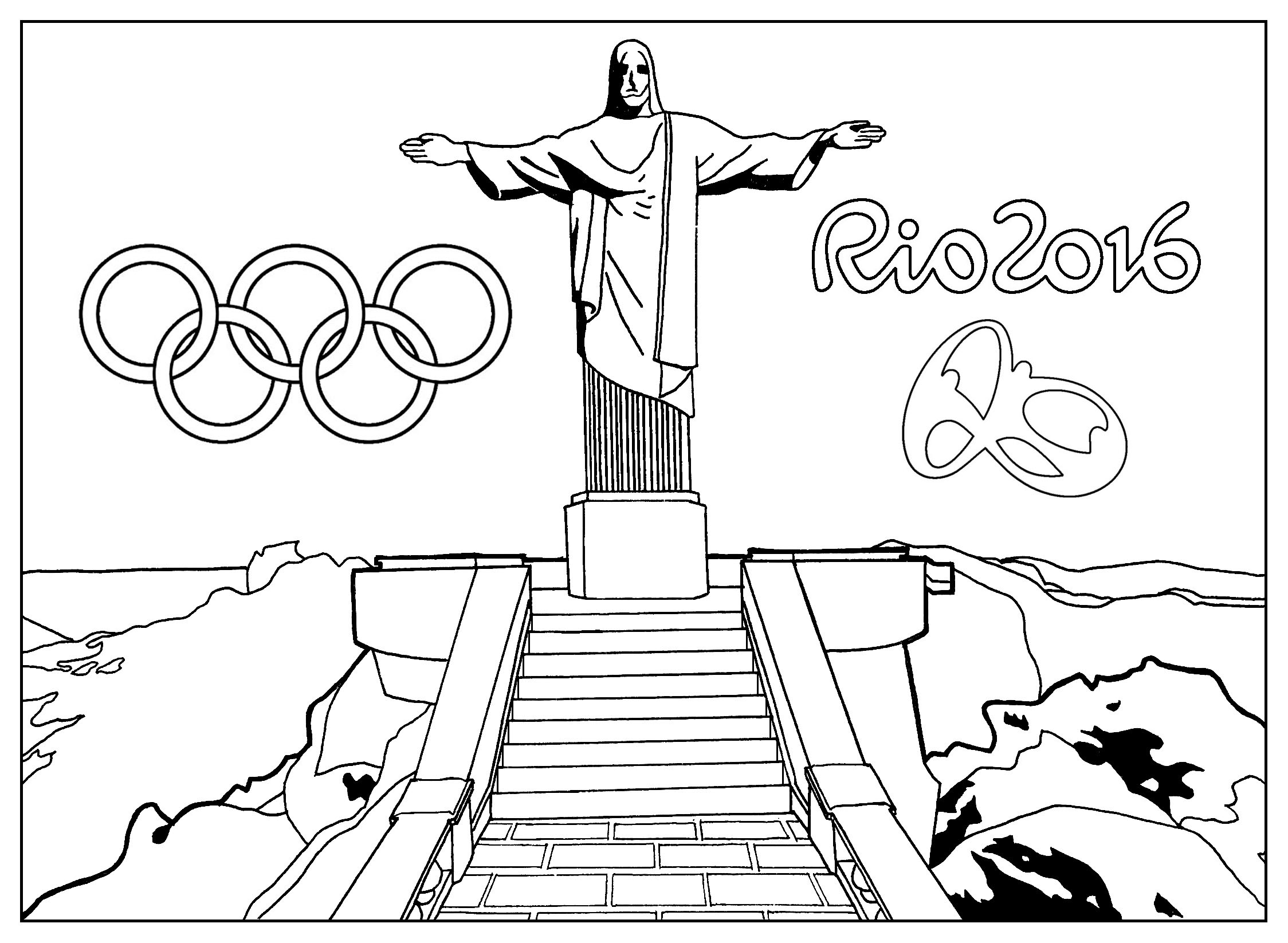 olympics symbol coloring pages - photo#35