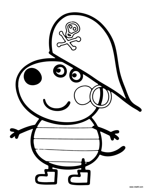 Desenhos para colorir peppa pig rota 83 atividades for Peppa pig drawing templates