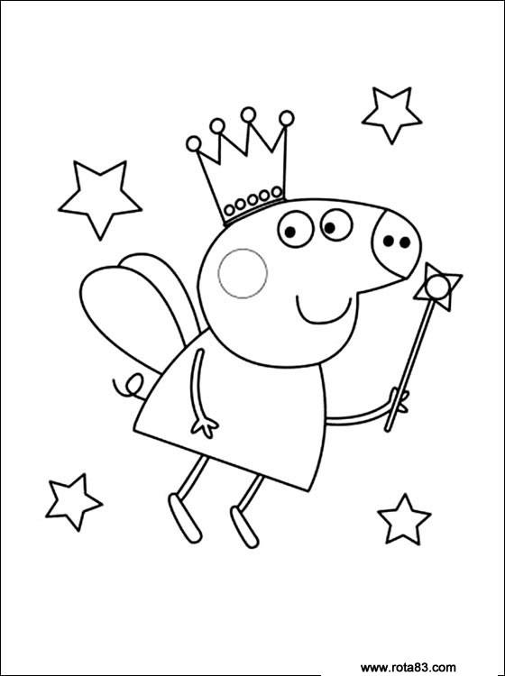 Desenhos para colorir peppa pig rota 83 atividades for Peppa pig cake template free