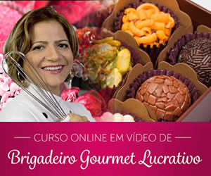 Curso de Brigadeiro Gourmet Online Mel Oliveira